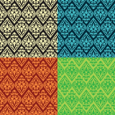 set of vector vintage seamless patterns Stock Vector - 15870175