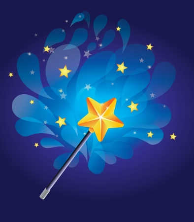 magic wand with bright background