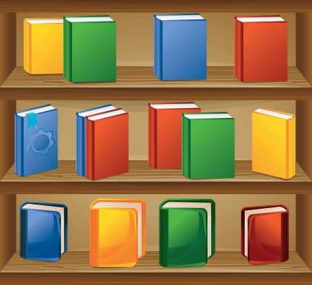 ebook store with books in different colors Stock Vector - 15869927