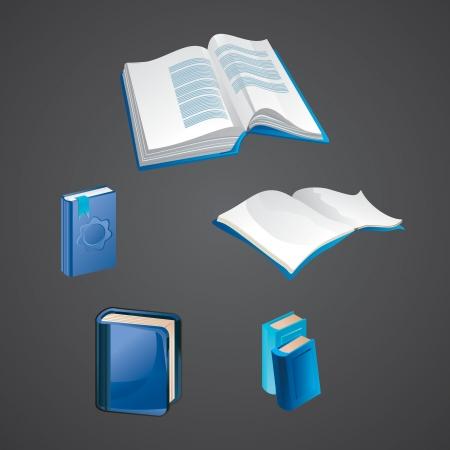 book mark: set of book icons - vector illustration Illustration