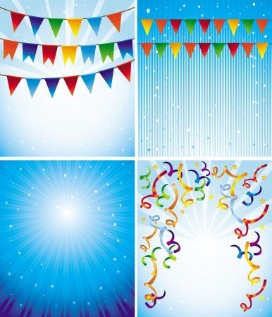 new years eve party: Vector holiday backgrounds for greeting cards and invitations