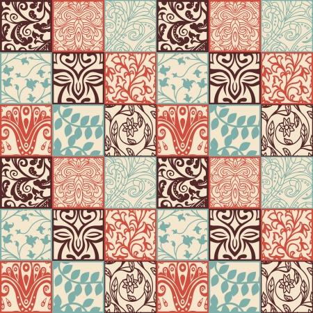 Bright floral seamless pattern - illustration Illustration