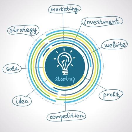 démarrage concept - graphiques d'information et le plan Vecteurs