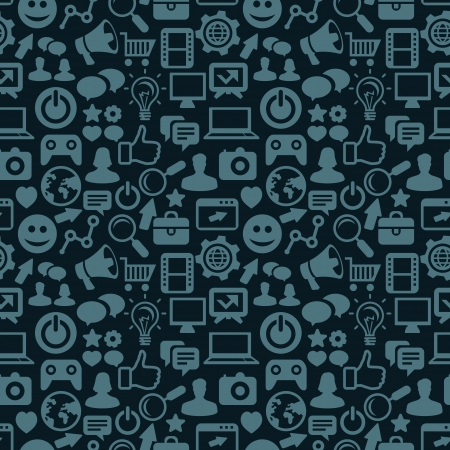 seamless pattern with social media icons - abstract background Vector