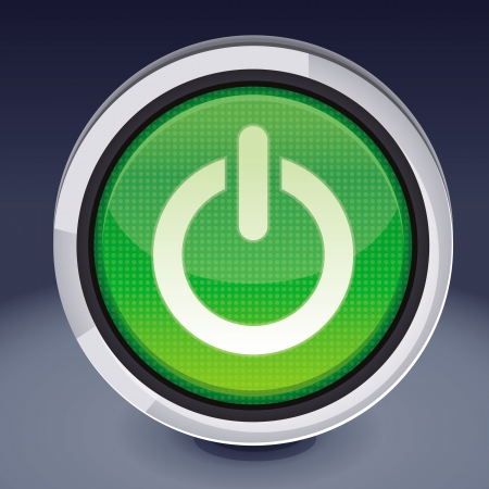 button layout:  power button - abstract design element