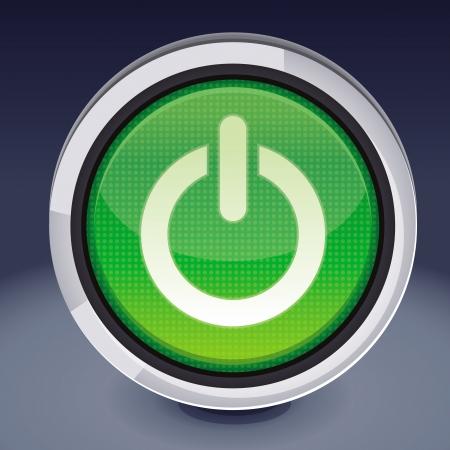 botón de encendido - Elemento de diseño abstracto