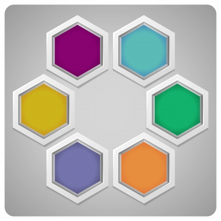 abstract frame made from hexagons - abstract background Illustration