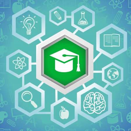 education concept:  education concept - science icons