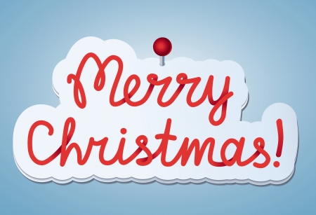 Vector sticker with merry christmas greeting Vector