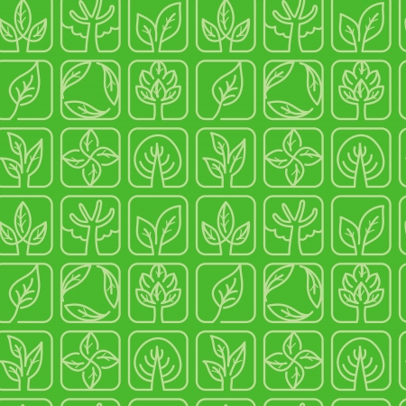 Vector seamless pattern with ecology signs and symbols -green abstract background Stock Vector - 16307115