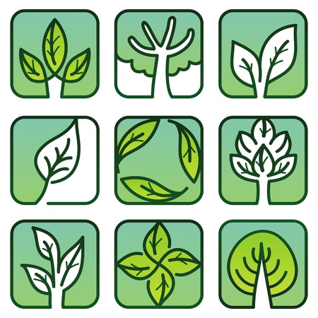 Vector eco labels - green nature signs Vector