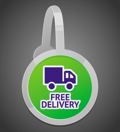 sign with free delivery icon - internet shop design element Vector