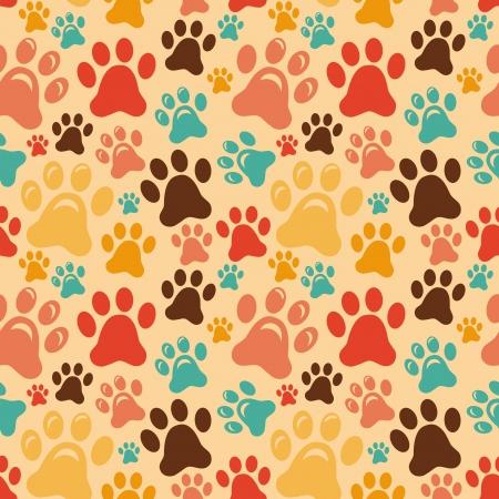 動物の足とのシームレスなパターン  イラスト・ベクター素材