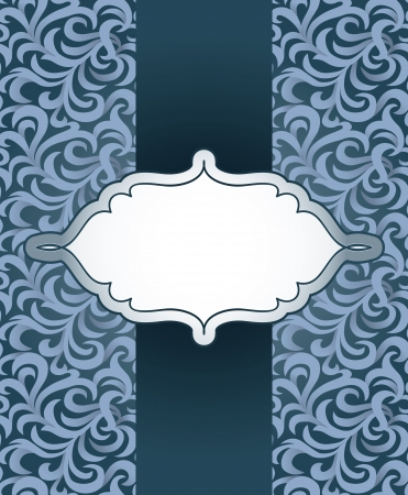 vintage frame with pattern - abstract background Stock Vector - 16440451