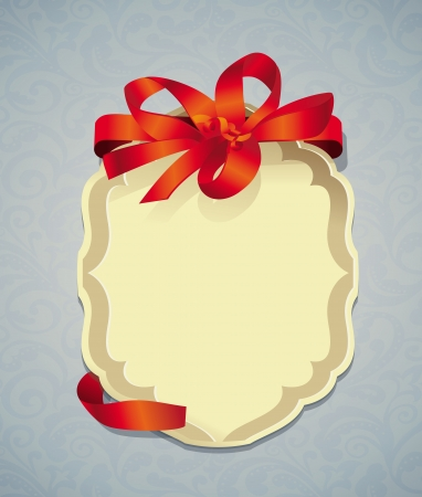 Vector greeting card with ribbon and copy space for text Stock Vector - 16463721