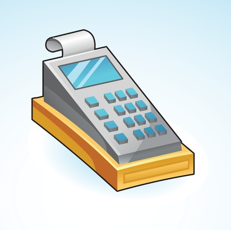 icon cash register - vector illustration Stock Vector - 16595695