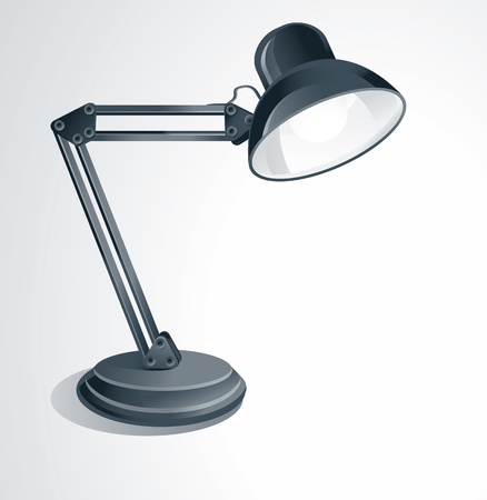 vector lamp: vector desk lamp - on white background