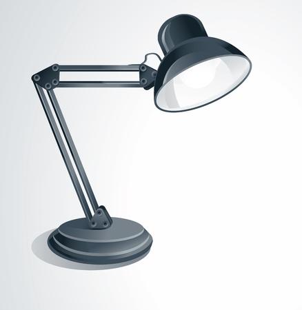 Vektor-Schreibtischlampe - auf weißem Hintergrund Vektorgrafik