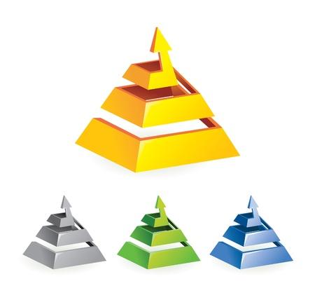 flechas: muestra de la flecha abstracto - ilustración del vector en diversos colores