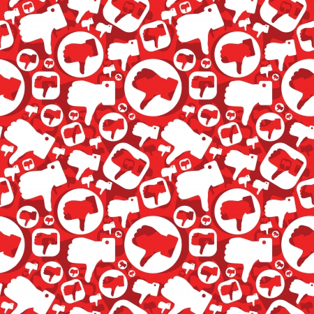 seamless pattern with dislike signs Vector