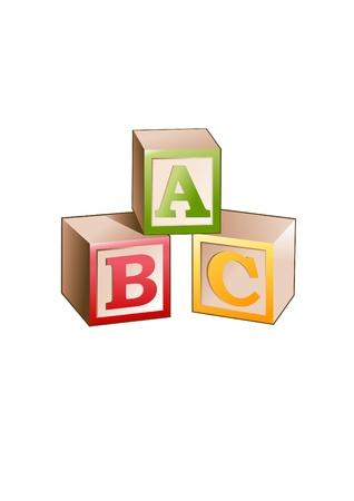 illustrazione di blocchi con lettere