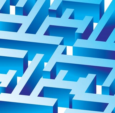 adversity: blue labyrinth - buisness concept