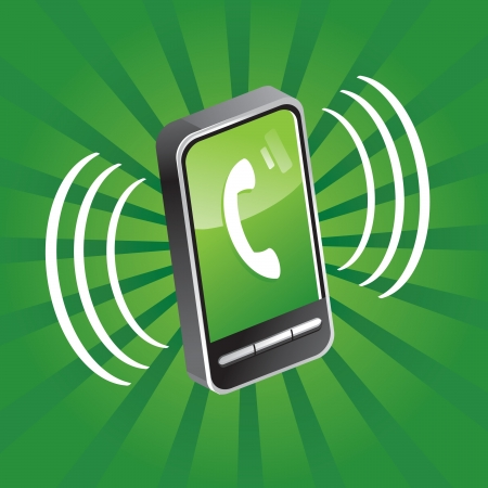 calling on phone: mobile phone calling Illustration