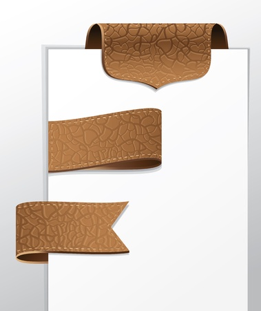 leather label: set of leather labels