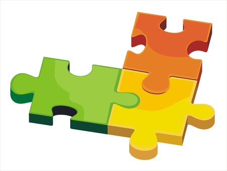 copulate: vector isolated puzzle  Illustration