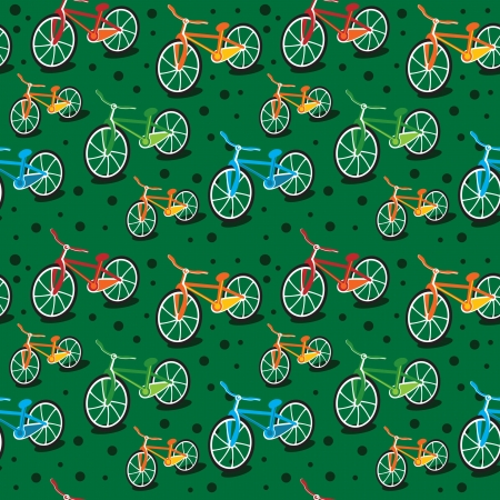 cycle race: bright seamless bicycle pattern