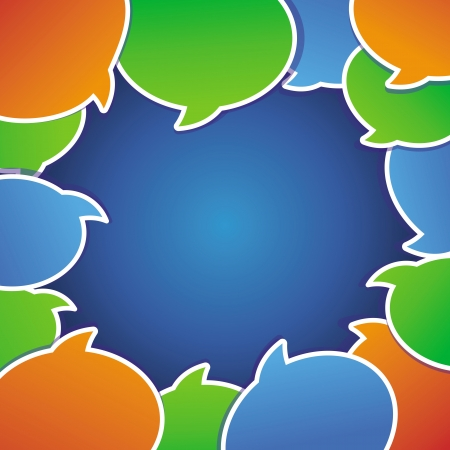 speach: Vector abstract background with speech bubbles and copy space for text