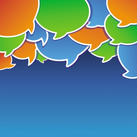 speach: abstract background with speech bubbles and copy space for text