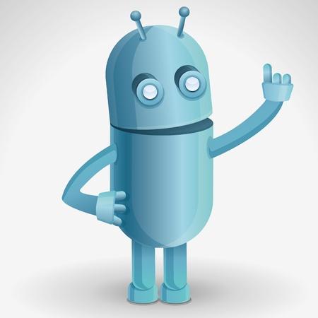 talking robot: cartoon character - funny robot Illustration