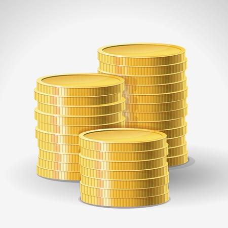 golden coins - abstract finance concept Stock Vector - 17718637