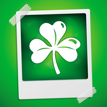 Patricks day card - vector illustration with clover leaf Vector