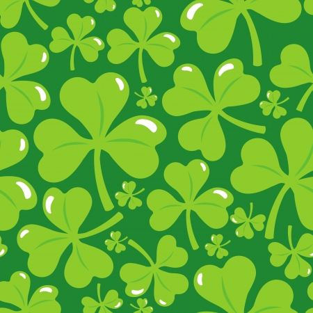 Vector seamless pattern with clover leaf - abstract background Stock Vector - 18021887