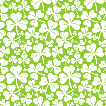 Vector seamless pattern with clover leaf - abstract background Stock Vector - 18021950