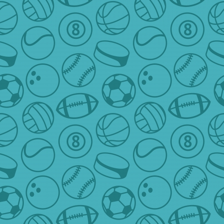Vector seamless pattern with sport balls - abstract background Stock Vector - 18021919