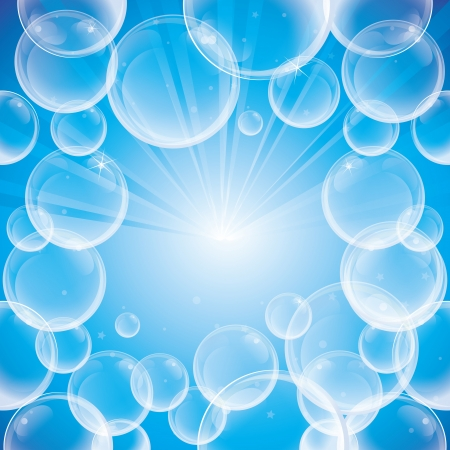 soap bubbles: Absract background with soap bubbles - vector illustration