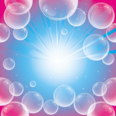 schiuma di sapone: Absract sfondo con bolle di sapone - illustrazione vettoriale Vettoriali