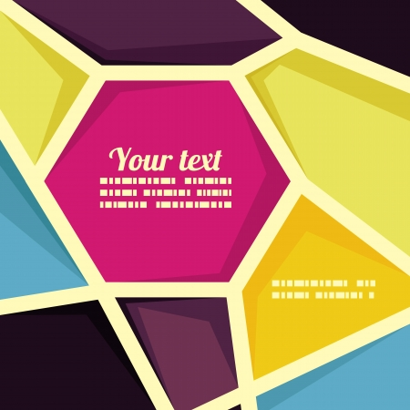 Vector geometric banner template - trendy abstract background with copy space for text Stock Vector - 18724391