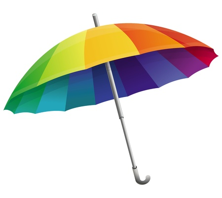 umbrella in rainbow colors isolated on white Stock Vector - 18969111