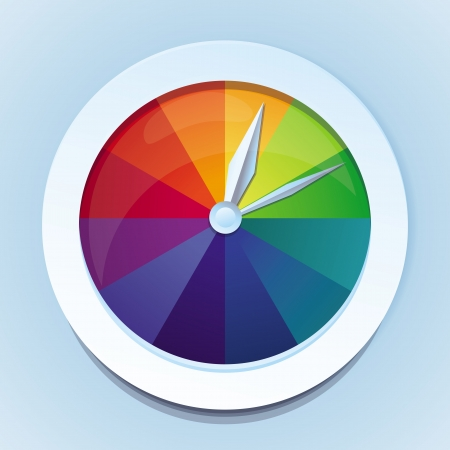 Vector rainbow watches - abstract icon Stock Vector - 18969139