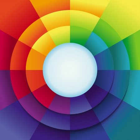 Vector abstract background in rainbow colours with copy space for text - design template Vector