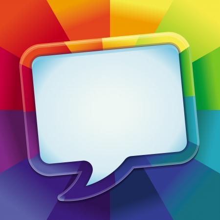 arcobaleno astratto: Vector sfondo astratto in colori dell'arcobaleno con copia spazio per il testo - modello di progettazione