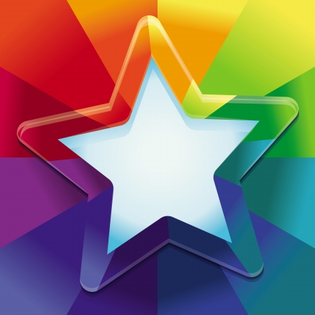 rainbow colours: Vector abstract background in rainbow colours with copy space for text - design template