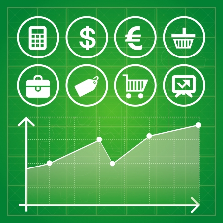 Vector set with finance and business design elements and icons Stock Vector - 18969177