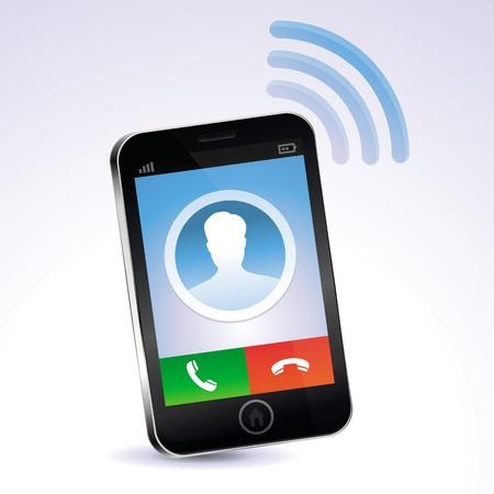 phone button: mobiele telefoon bellen - touchscreen begrip