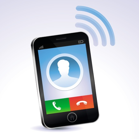 mobile device: mobile phone calling - touchscreen concept