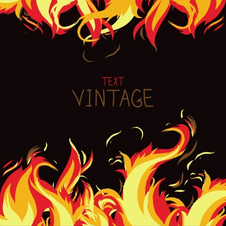 bonfire: Vector frame made from fire - abstract background